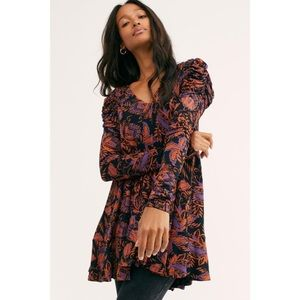 FREE PEOPLE hello lover ruched sleeve tunic dress